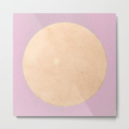 San Francisco Moon Minimalism Sweet Lilac Beige Metal Print