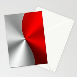 Metallic Red & Silver Geometric Design Stationery Cards