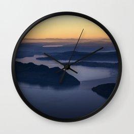 The glow of the lake Wall Clock