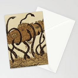 Nautilus and giant squid Stationery Cards