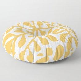 Yellow crawler pattern Floor Pillow