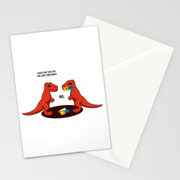 Last Unicorn T-Rex Funny Person Gift Stationery Cards