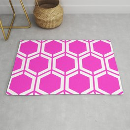 Razzle dazzle rose - pink - Geometric Polygon Pattern Rug
