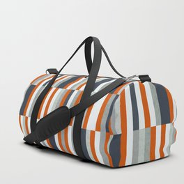 Orange, Navy Blue, Gray / Grey Stripes, Abstract Nautical Maritime Design by Sporttaschen