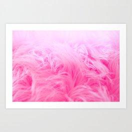Pink Fur Pattern Art Print