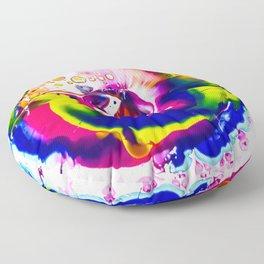 Rainbow Splash Floor Pillow