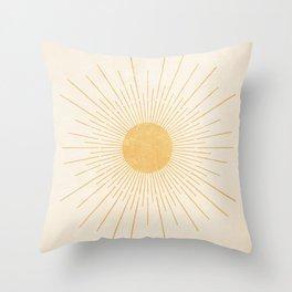 Sun #3 Yellow Throw Pillow