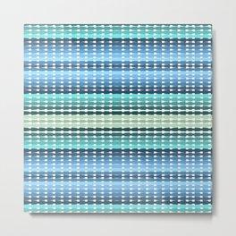 Blue Aqua Green Ombre  Metal Print