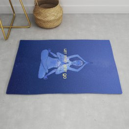 let that shit go / Durga yoga relax poster Rug