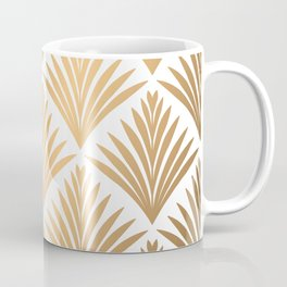 Art Deco Pattern in Gold Coffee Mug