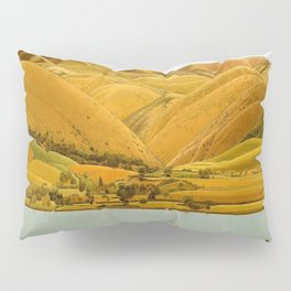 Edge of Abruzzi, Italy; boat with three people on lake by Winifred Knights Pillow Sham