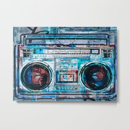 Disc Jockey DJ Boombox Metal Print