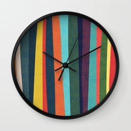 Mid-century zebra Wall Clock