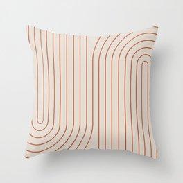 Minimal Line Curvature VI Throw Pillow