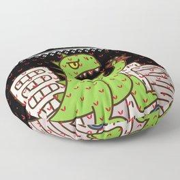 Godzilla Ugly Christmas Floor Pillow