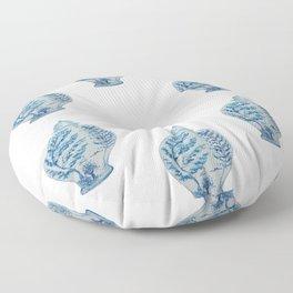 Blue and White Ginger Jar  Floor Pillow