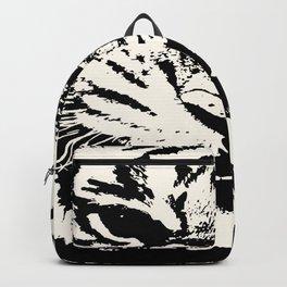 White Tiger Vector Backpack