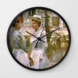 Isaac Lazarus Israels - Amsterdam Maids - Digital Remastered Edition Wall Clock