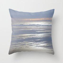 PEACEFUL BEACH WINTER SUNSET CORNWALL Throw Pillow