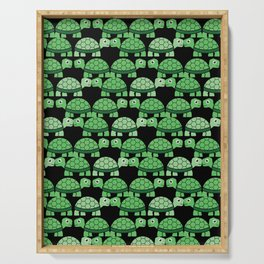 Turtle Pattern (Black and green) Serving Tray
