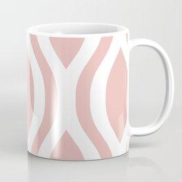 Pretty Ogee Pattern 374 Dusty Rose Coffee Mug