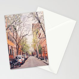 New York City - Springtime in the West Village Stationery Cards