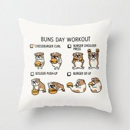 Buns Day Workout Throw Pillow