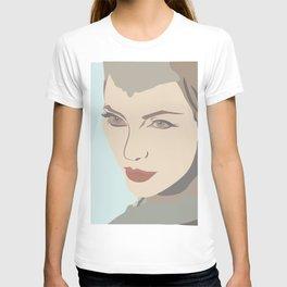 Angelina Jolie from Maleficent movie illustration T-shirt