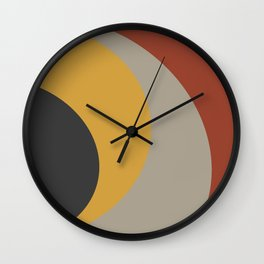 Colorful curves Wall Clock