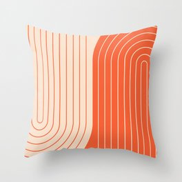 Two Tone Line Curvature XI  Throw Pillow
