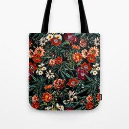 Marijuana and Floral Pattern Tote Bag