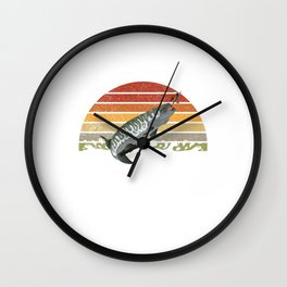 Vintage Musky Shirt Muskie | Pike | Muskellunge Wall Clock