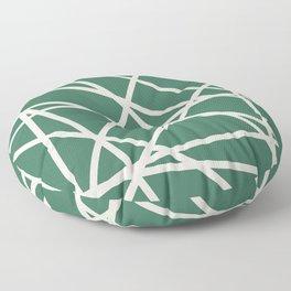 Emerald Lines Floor Pillow