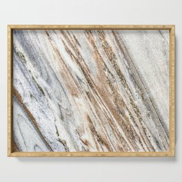 Marble Slab Texture // Gold Silver Black Gray White Stripes Luxury Rugged Rustic Rock Serving Tray