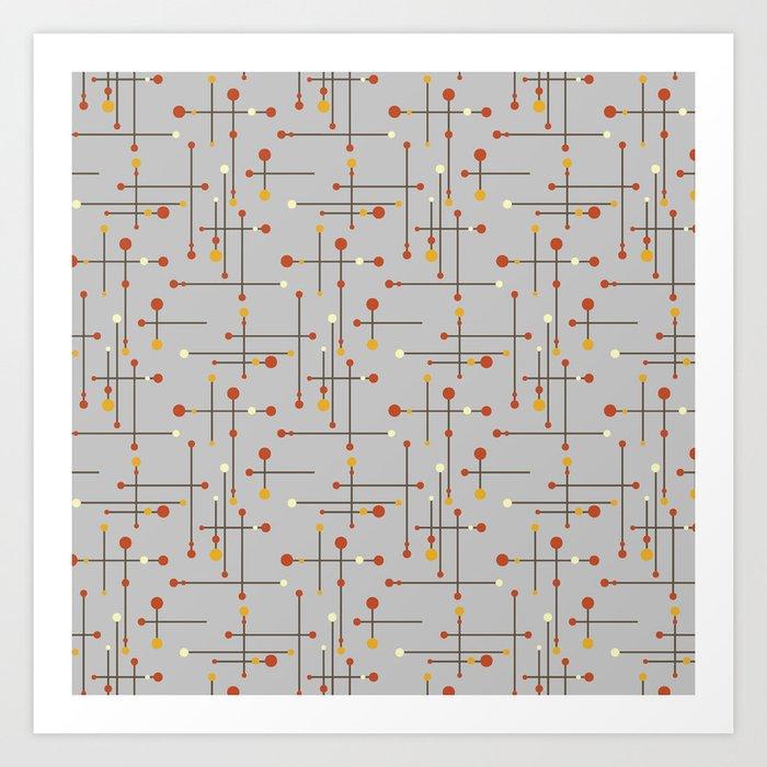 Gray Mid Century Modern Kunstdrucke