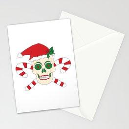 Creepy Christmas Santa Skull Stationery Cards