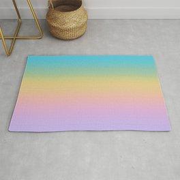 Pastel Rainbow Ombre Gradient Rug