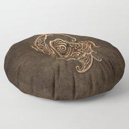 Vintage Rustic Pisces Zodiac Sign Floor Pillow