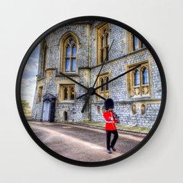 Windsor Castle Coldstream Guard Wall Clock