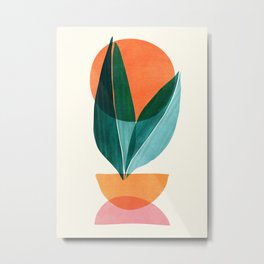 Nature Stack II / Abstract Shapes Illustration Metal Print