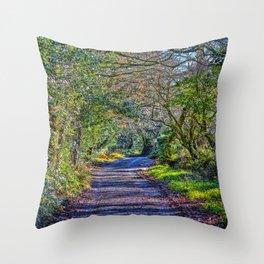 Mylor Walk - Broads Lane Trees Throw Pillow