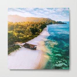 Seychelles Beach Metal Print
