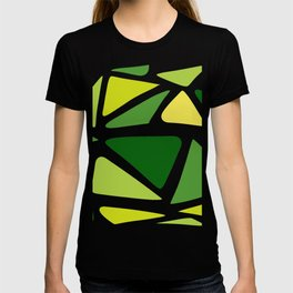 Green and yellow shapes T-shirt