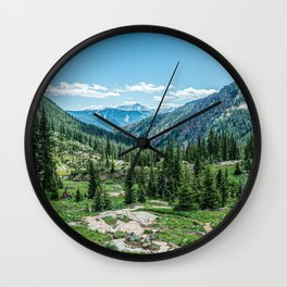 Colorado Wilderness // Why live anywhere else? Amazing Peaceful Scenery with Evergreen Dusted Hills Wall Clock