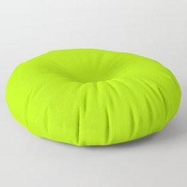 Trendy modern lime green neon color Floor Pillow
