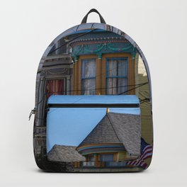 Painted Ladies Houses in San Francisco, California, Haight Ashbury Homes, Travel Photography  Backpack