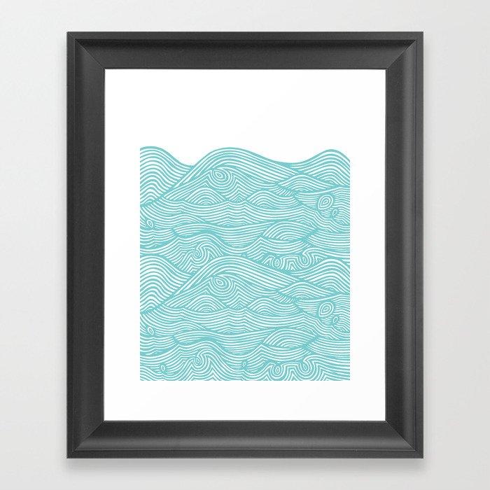 Waves Gerahmter Kunstdruck