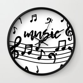 Musical Note Music Lover Wall Clock