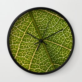 Green Leaf (Color) Wall Clock