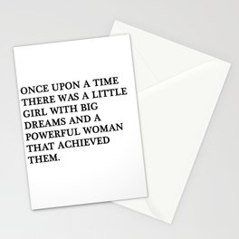 Once upon a time there was a little girl Stationery Cards